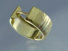8 Kt Gold 333 Creolen Klappcreolen Breite 6 mm 13,5  16 mm leicht oval Musterung