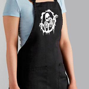 Skeleton Body Rip Skull Bones Spooky Horror Halloween Apron Cook BBQ Grilling