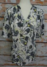 PERFECT David Jones Petites Floral Print Blouse Shirt Blouse Tee Sz 16 P EUC!