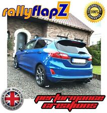 rallyflapZ FORD FIESTA MK8 ST ST-LINE Mud Flaps Kit Black 4mm PVC RF Logo White