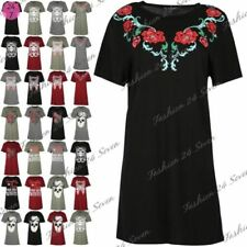 Viscose Floral Dresses for Women with Embroidered
