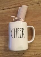 NEW Rae Dunn Coffee Mug CHEER Tea Towel Gift Set Artisan Collection by Magenta