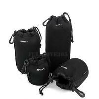 S+M+L+XL Neoprene Camera DSLR Lens Soft Waterproof Pouch Bag Case Bag Set O