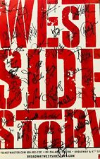 West Side Story SIGNED Window Card Poster Broadway 30x cast autographed