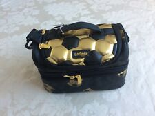 New Smiggle Gold & Black Double Lunch box bag