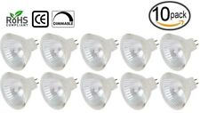 [10 Pack] 20 Watt 12V Halogen Bulbs MR16 w/ Cover Glass GU5.3 2-Pin 20W BAB Lamp
