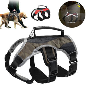 No Pull Dog Harness with Lift Handle Reflective for Medium Large Breeds Bulldog