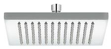 Rain Shower Shower Head Shower 200 mm Angular Massive Brass Chromed