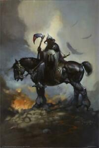 "24.5/"" x 36.5/"" Barbarian by Frank Frazetta Laminated Poster"