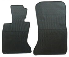 BMW 7 Series 2012-2015 Black Rubber All Weather Floor Mats Front Set OEM