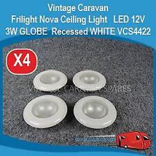 Caravan Ceiling Down Light   12V LED  3W GLOBE  Recessed WHITE VCS4422 E0217