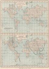 Le linee del mondo. cotidale; le curve di uguale variazione magnetica (AMMIRAGLIATO grafico) Mappa 1886