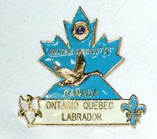 lions club pins Canada, Goose Ontario, Quebec, Labrador, Multiple District A