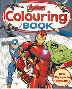 MARVEL AVENGERS COLOURING BOOK - 30 + PAGES TO DECORATE