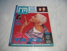 Record Mirror magazine 1988 October 29 Yazz Milli Vanilli cover Heart