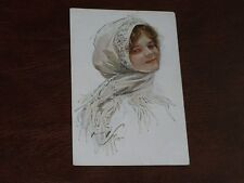 ORIGINAL RARE RUSSIAN HARRISON FISHER SIGNED ART NOUVEAU GLAMOUR POSTCARD.