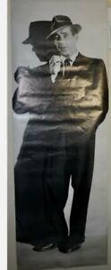 """VTG Humphrey Bogart huge """"door poster"""" 1976 Portal Publications. 26"""" x 72"""" MINT"""