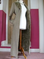 RRP£150 NEW Ladies DOROTHY PERKINS faux sheepskin suede long COAT UK 12 10 fur