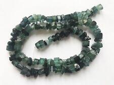 "16""Gemmy Hammer cut Rare blue indicolite Afghan Tourmaline beads string"