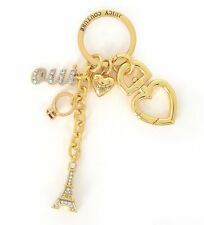 Juicy Couture Key Ring fob Purse Charm Oui Eiffel Tower NEW
