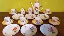 Kaffee Tee Service Lichte Fine China 23 teilig DDR Thüringen Blume Kaffeeservice