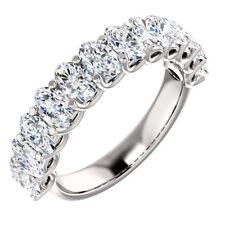 2.40 Ct Oval Brilliant Cut Diamond 12 Stone Ring 0.20 ct Each Stone G-H,VS1-VS2