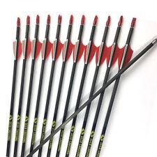"12PCS 30"" SP700 Archery Carbon Arrow Shaft 1.75''  Vanes Bow Shooting Arrows"