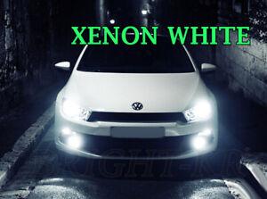 Fits VW SCIROCCO MK3 2008+ Foglight Bright 6000K Light LED Bulbs XENON WHITE