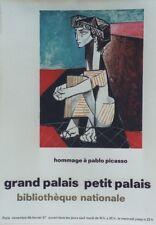 """""""HOMMAGE à Pablo PICASSO PARIS 1967"""" Affiche originale entoilée"""