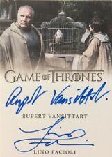 Rupert Vansittart + Lino Facioli Dual Autograph, Game of Thrones Complete Series