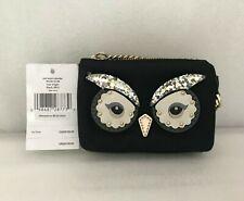 NWT Kate Spade Owl Mini Natasha Star Bright Mini Coin Card Pouch WLRU5149 -Black