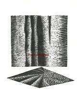 Graphik Original-Linolschnitt Horst Heinen: Begegnung - 1980