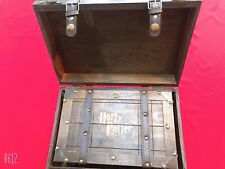 More details for special offer wood storage box trunk retro distressed harry potter set of two