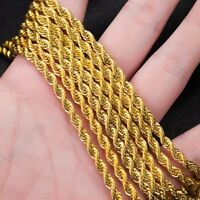 Fashion Women Man Cuban Hiphop Link Gold Chain Necklace Jewelry Gift 16-30inch