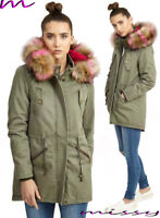 NEW LADIES WOMENS JACKET HOODED WINTER TOP PARKER PARKA LONG COAT SIZE 8 TO 16 J