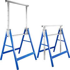 2x Treteaux télescopique chevalets tréteau pliable hauteur réglable 81 à 130 cm
