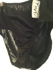 Satin Panty Silky Soft Panties high leg brief  sz 13 black