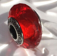 NEW  Pandora  silver 925 Ale murano bead charm red glass bead  791066