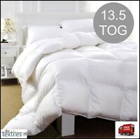 Hotel Quality Duck Feather & Down Duvet Quilt 13.5 TOG Quilts ,Pillows ALL SIZES
