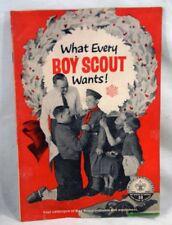 Vintage 1950s Boy Scout Uniform/Equipment Christmas Catalog