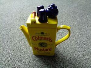Swineside Teapottery Coleman's Mustard Tin Novelty Teapot
