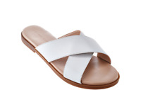 H by Halston Leather Crossover Sandal - Rin pick size color new