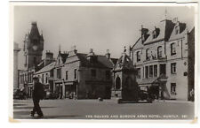 Square & Gordon Arms Hotel - Huntly Real Photo Postcard c1940s / Aberdeen