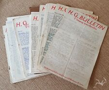 WW2 British Leicestershire Quorn Home Guard Bulletin newsletters - COMPLETE SET