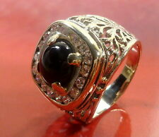 Toller Herren Ring in 750/18k  62 (19,7 mm Ø) Onyx Weißgold 18 Diamanten 0,72ct