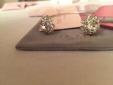 Ted Baker Jewellery Double Daisy Crystal Silver tone Open Cuff Bangle Bracelet