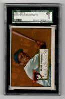 1952 Topps Baseball #225 Frank Baumholtz - SGC 5 EX