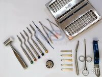 NEW Sinus Lift Osteotomes off set Concave Kit Dental Implant Surgery Tools