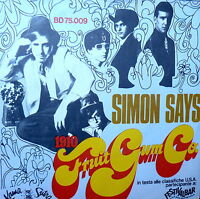 "7""  PS  SIMON SAYS  ( IL BALLO DI SIMONE ) - 1910 FRUITGUM CO. ITALY  1968"
