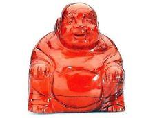 Red Jasper Crystal Gemstone Buddha 50mm x 45mm, Reiki Healing Stone